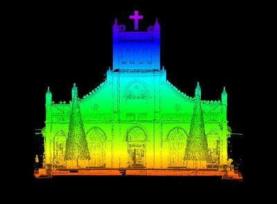 3D laser scan Phu Hoa church in Quang Ngai province
